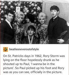 The Beatles: Always including people, even the hopelessly drunk.