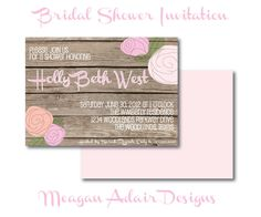 Rustic Bridal Shower Invitation (would do in wedding colors)
