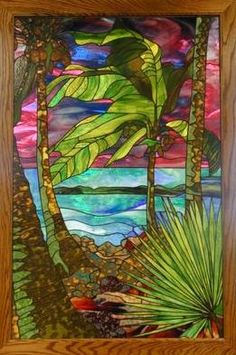 Love this tropical Stained Glass Window from Addict Gallery
