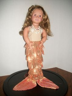 American girl Mermaid outfit costume by SewnbyAngel on Etsy, $18.00