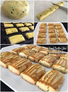 Salted Cookie Recipe with Parsley, Cookie Recipes Salt Cookies Recipe, Cookie Recipes, Greek Cooking, Cooking Time, Pastry Cake, Turkish Recipes, Hot Dog Buns, Delish, Sweet Tooth