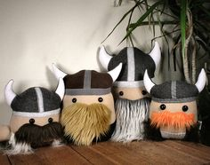 Stuffed Viking Pillow Plush Doll by Saint-Angel on DeviantArt Vikings, Softies, Plushies, Viking Birthday, Viking Decor, Dragon Nursery, Viking Baby, Dragon Party, Doll Sewing Patterns