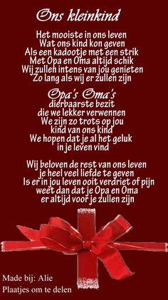Mooi gedichtje voor de kleinkinderen