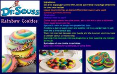 Dr.Seuss Rainbow Cookies