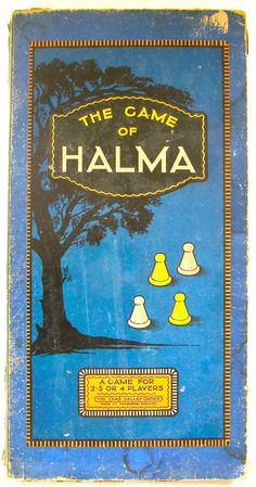 Vintage Game Board -- The Game of Halma Chad Valley Toys