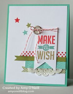 This color combination is so bright and fun. It's perfect for making a card to celebrate anyone's birthday!