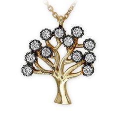 altın kolye, carmen, 14 ayar, ağaç kolye, kolye modelleri, zirkon
