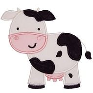 Farm Cow Applique