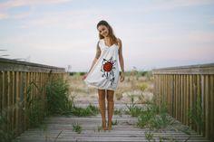 "Vestido 100% algodón BIO certificado hecho en España ""Girasol"" #surf #nature #slowfashion #ecofashion #dress"