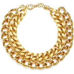 Rental AV Max Chains and Things Necklace ($25) ❤ liked on Polyvore featuring jewelry, necklaces, accessories, gold, chain necklace, long necklace, a v max jewelry, a.v. max and chain jewelry
