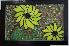 Sunflower Hand Painting Art, Acrylic Painting Canvas, Paint Types, Custom Paint, Hand Painted, Artwork, Art Work, Work Of Art, Auguste Rodin Artwork