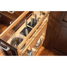 Inside Kitchen Cabinets, Kitchen Cabinet Drawers, Kitchen Drawer Organization, Custom Kitchen Cabinets, Base Cabinets, Kitchen Cabinet Design, Kitchen Storage, Pull Out Cabinet Drawers, System Kitchen