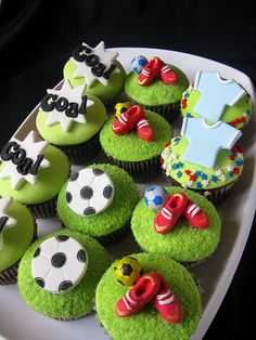 Image result for soccer cupcakes