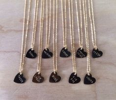 Snack Food Hand Stamped Heart Charm Necklace - Tacos, Pizza, French Fries Vodka & More.