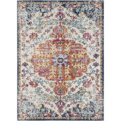 Andover Saffron/Blue Area Rug & Reviews | AllModern