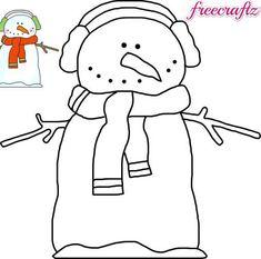 Snowman Template With A Bird Friend  Christmas Crafts