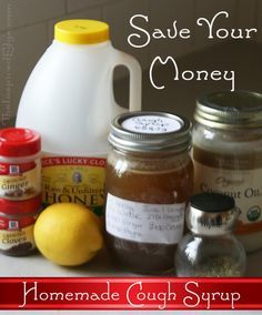 Save money with Homemade #Cough #Syrup and know what your taking into your body. By Faith Gauthier of TheInspiredEdge