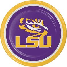 Case of Louisiana State University 8.75'' Dinner Plates (96/case)