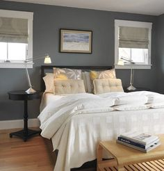 How To Decorate A Bedroom With Grey Walls - Gray Bedroom Wall Decor Ideas Grey Colour Scheme Bedroom, Gray Bedroom Walls, Grey Walls Living Room, Gray Walls, Master Bedroom, White Bedroom, Gray Rooms, Calm Bedroom, Tranquil Bedroom
