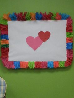 Tissue paper boarder #bulletin board Love the border!