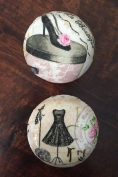 Paris shabby chic boutique 2 inch decoupaged dresser drawer cabinet knobs pulls by HolyChicBoutiqueCo on Etsy https://www.etsy.com/listing/450009604/paris-shabby-chic-boutique-2-inch