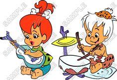 The Flintstones Pebbles and Bam Bam T Shirt Iron on Transfer Decal - Click Image to Close Flintstone Cartoon, Fred Flintstone, Classic Cartoon Characters, Classic Cartoons, Desenhos Hanna Barbera, Pebbles And Bam Bam, Betty Rubble, Pebbles Flintstone, Cartoon Caracters