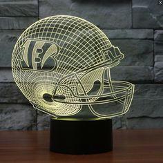 NFL CINCINNATI BENGALS 3D LED LIGHT LAMP