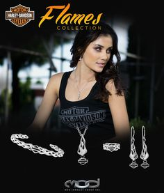 Harley-Davidson Flames Collection by MOD Jewelry.