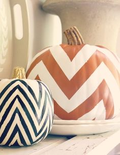 Tips and Tricks: Stylish DIY Chevron   Pumpkins