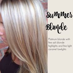 Summer blonde - Platinum blonde with fine ash blond highlights and fine light caramel low-lights. @nickykressman @depaz