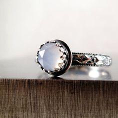 Gemstone ring Sterling Silver Blue by BarronDesignStudio on Etsy, $52.00