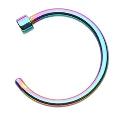 Colorline Nose Hoop Ring - 20 GA (0.8mm) - Rainbow - Sold as a Pair