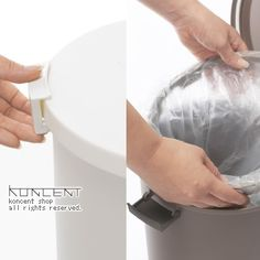 ニオイをもらさず、しっかりロック。生ゴミ、空き缶、おむつ、ペット用品に最適なゴミ箱。kcud(クード)ROUND ROCK