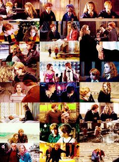 Ron and Hermoine through the years <3