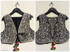 Ethnic Jackets & Shrugs Classic Cotton Jacket  *Fabric* Cotton   *Sleeves* Sleeves Are Not Included   *Size* S - 36 in, M - 38 in, L - 40 in, XL - 42 in   *Length* Up to 20 in   *Type* Stitched   *Description* It Has 1 Piece of Jacket   *Work* Kutchi Work  *Sizes Available* S, M, L *   Catalog Rating: ★4.3 (140)  Catalog Name:  Kutchian Fancy Jackets Vol 1 CatalogID_10484 C74-SC1008 Code: 093-106010-