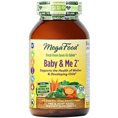 MegaFood  Baby  Me 2 Key Nutrients Vital to Prenatal Support of Both Mother  Baby 120 Tablets >>> Want to know more, click on the image.