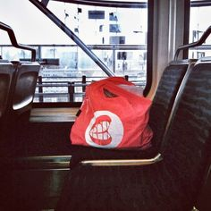 Love seeing a HOT AWESOME RAH Tote Bagon it's very own World Tour… snapped on the Seattle SoundTransit Light Rail!    Thanks Gorio for sharing your photo!