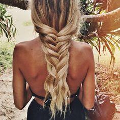 a loose, summer braid