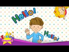 Hello (Character introduction) - Kids English song - Sing a song - YouTube