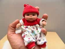 "OOAK BABY BOY ASIAN ALFIE ART DOLL BY KILEIGH SHEPHERD 6"" HAND MADE POLYMER"
