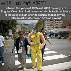 How Columbia reduced traffic fatalities - WTF fun facts