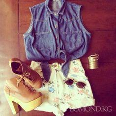 Как стильно переделать джинсовую рубашку? Фото. Видео » Мода в Кыргызстане, Бишкек - BOMOND.KG: модные советы, стиль, стрижки, маникюр