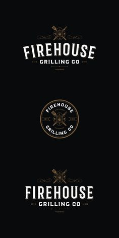 Designs   Create a lasting impression vintage/distressed LOGO for Firehouse Grilling Co.   Logo design contest