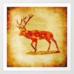 The deer candy Art Print by ganech - $15.60