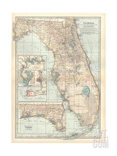 map of florida united states inset maps of jacksonville