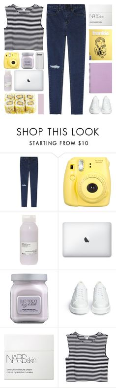 """m e t a n o i a"" by lavender-and-mint ❤ liked on Polyvore featuring Fujifilm, Davines, Laura Mercier, Robert Clergerie, NARS Cosmetics, Monki and lavendertfs"