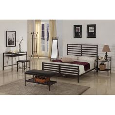 InRoom Designs Manhattan Metal Bedroom Collection