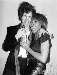Keith Richards & Tina Turner   Backstage - The Ritz, NYC, 1983  I have been there. not this night but....