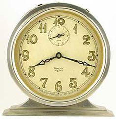 The Timeless Appeal of the Westclock Big and Baby Bens Vintage Alarm Clocks, Old Clocks, Antique Clocks, Clocks Go Back, Classic Clocks, Fireplace Mantle, Mid Century Decor, Gold Leaf, Vintage Decor