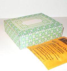 free printable tea or favor printable boxes